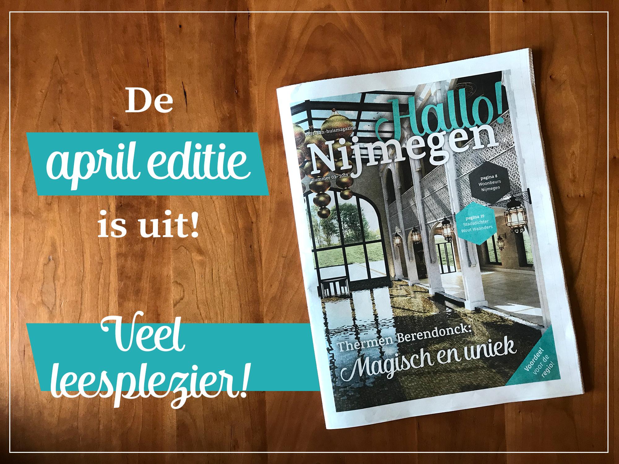 April editie van Hallo! Nijmegen is uit!