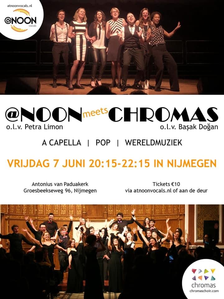 Uniek a capella dubbelconcert van vocal group @NOON en het koor Chromas uit Istanbul
