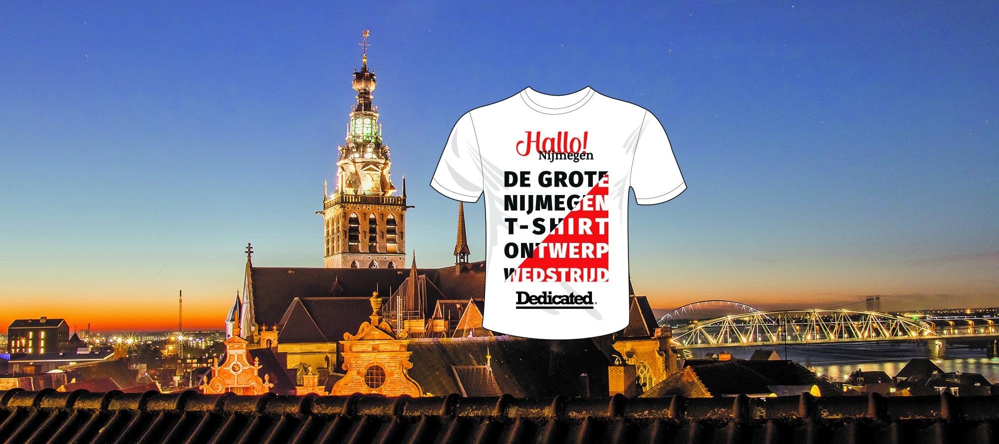 De grote Hallo! Nijmegen t-shirt ontwerp wedstrijd
