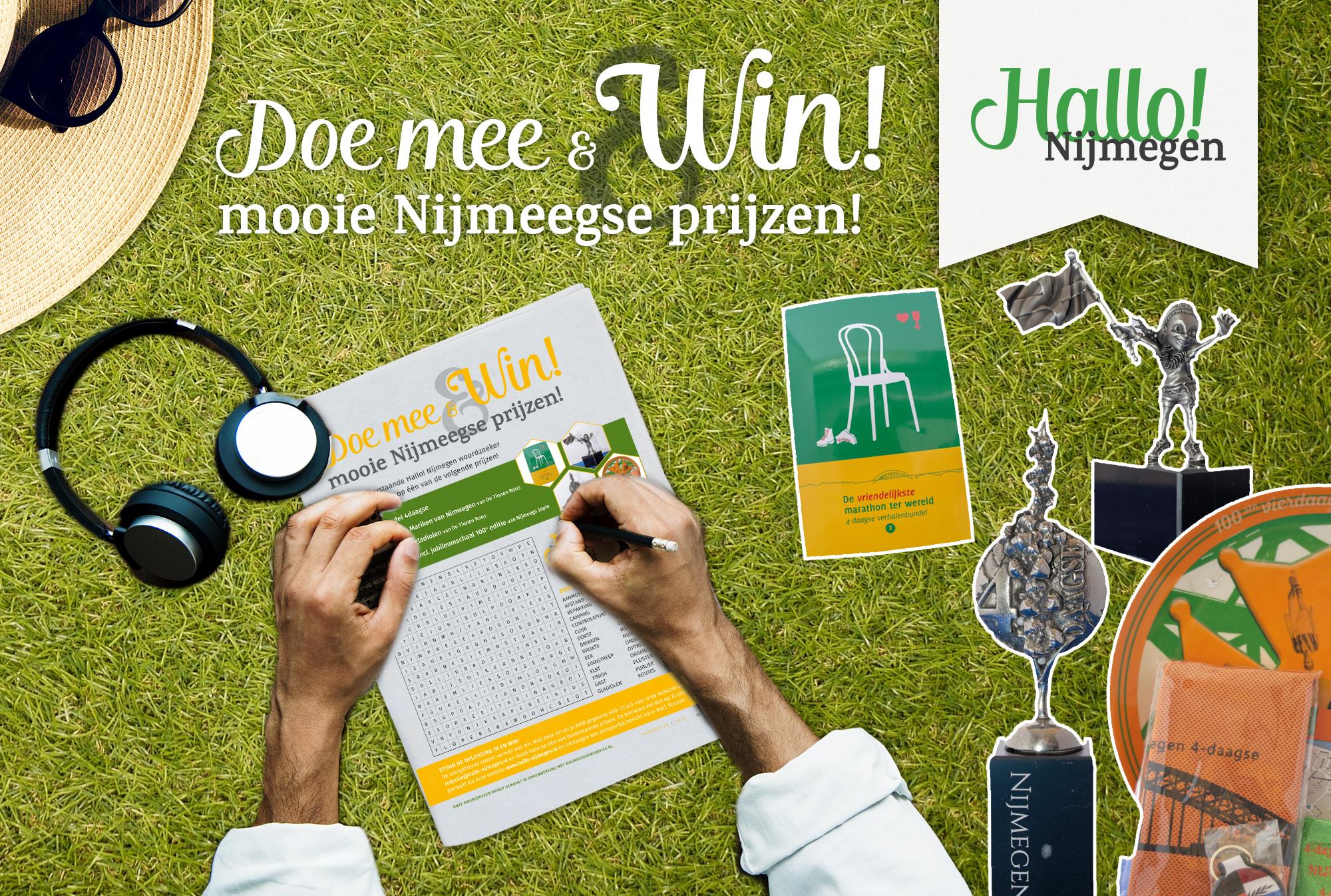 Doe mee met de Hallo! Nijmegen Woordzoeker van juli en win leuke prijzen!